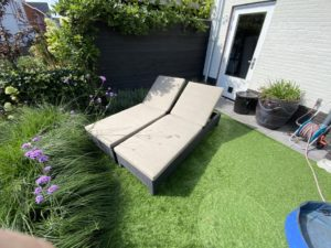 Ligbed kussens op maat in southend taupe